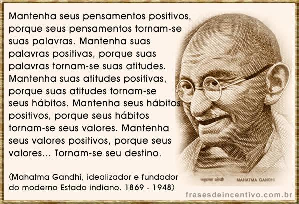 frases de incentivo de Gandhi