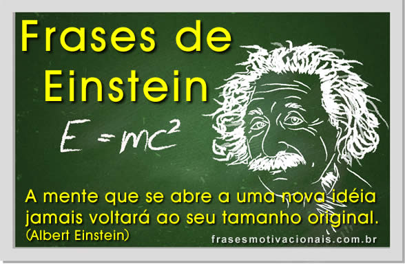 Well-known Frases de Albert Einstein | Pensamentos de Albert Einstein  BX76
