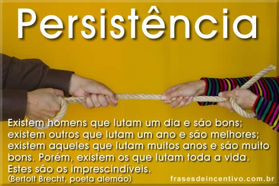 frases sobre persistencia e incentivo