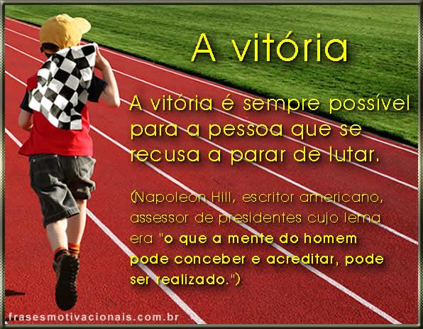 frase de motivação sobre vitória