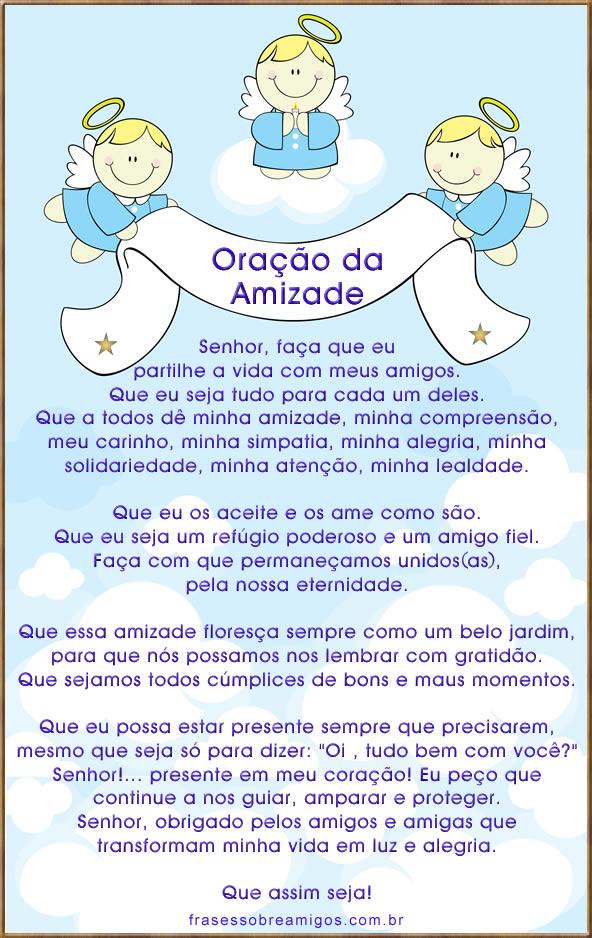 Oração do dia do amigo, oração da amizade