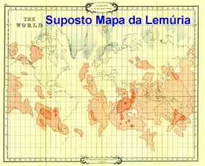 suposto mapa da lemuria