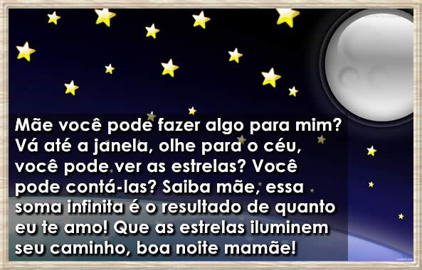 Estrela De Minas Mensagens Boa Noite: Mensagem De BOA NOITE Para O Dia Das MÃES