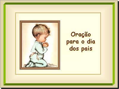 mensagem slide com oração para o dia dos pais