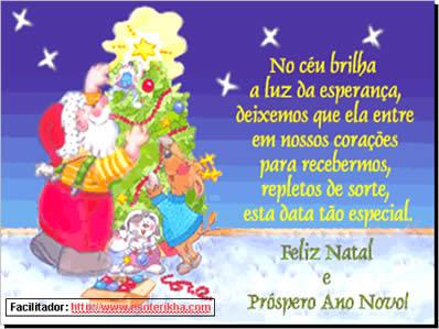 Cartão de natal e boas festas - Mensagens e slides pps powerpoint