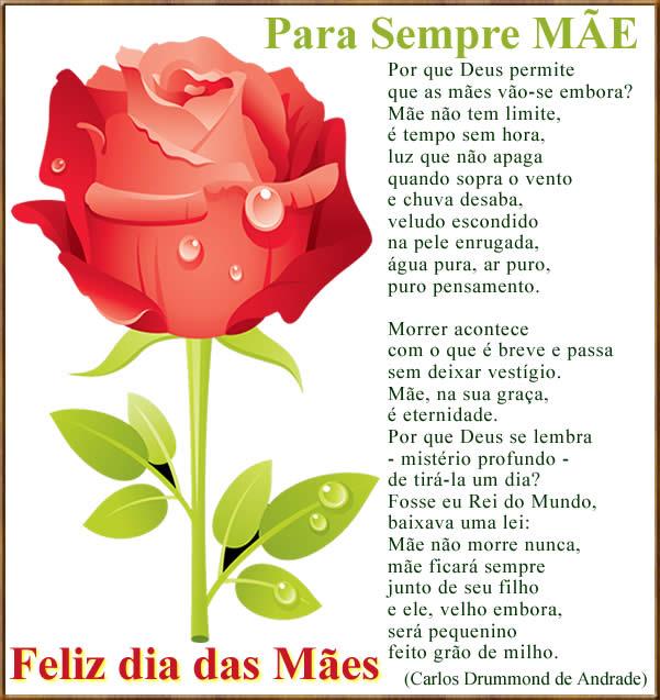 homenagem do maior poeta brasileiro para o dia das mães, para