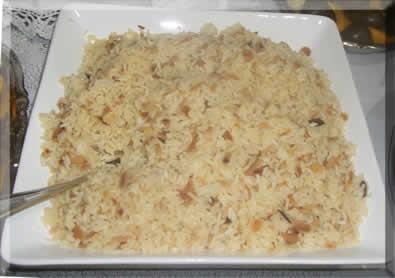 receita de arroz com champanhe