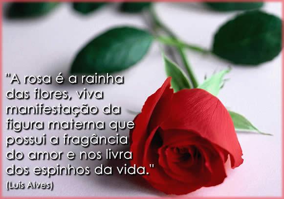 frases bonitas para mãe com rosas